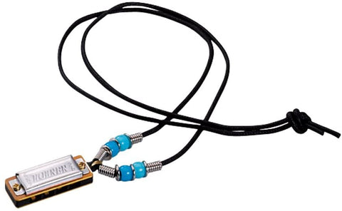 HOHNER MINI HARMONICA TRIO. BRACELET, NECKLACE, AND KEYCHAIN.