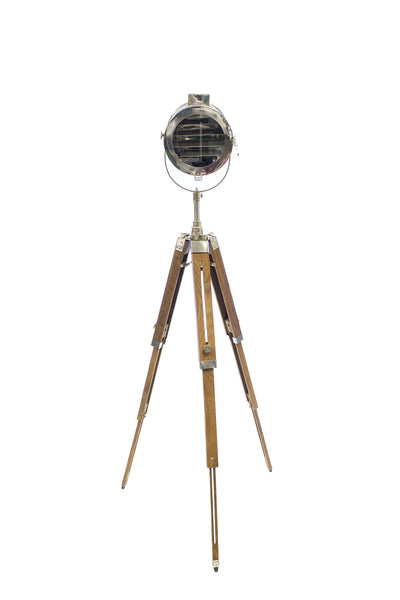Hollywood Wooden Tripod Designer Floor LED Lamp Home Decor