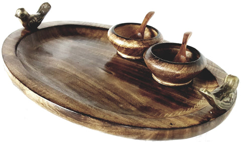 Great Himalayan Wooden Serving Tray