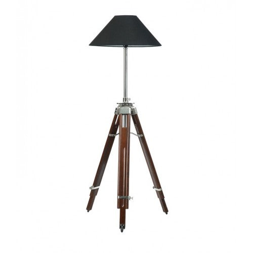 Figurati Tripod Antique Wood Floor Lamp