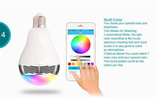 Bluetooth Speaker Color LED Smartphone Globe With App Apple Android