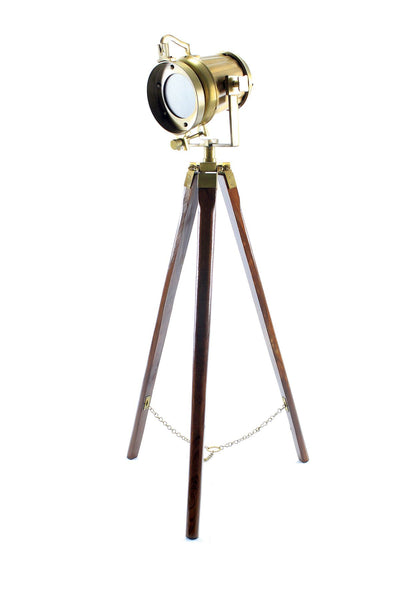 Odara  Wooden Tripod Medium Floor Lamp