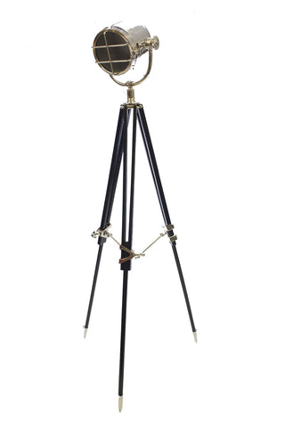 Spotlight Hollywood Black Tripod Lamp Tall Adjustable knob LED Color Globe Bulb