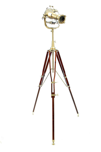 Unique Design Movie Style Large Tripod Lamp with LED Light