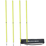 ALPHA AGILITY SPEED POLE 4 PACK YELLOW | BLUE
