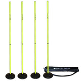 ALPHA AGILITY TURF BASE SPEED POLES 4 PACK
