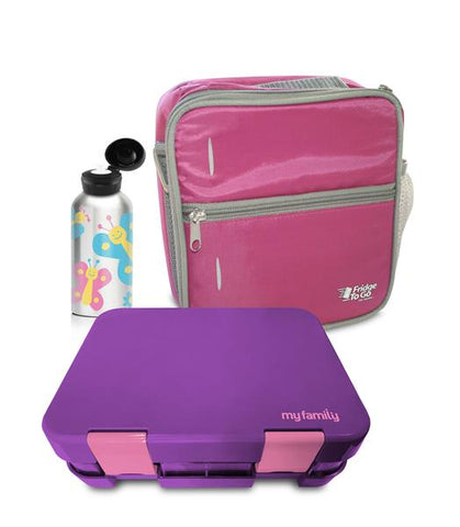 my family bento box lunchbag bpa free stainless drink bottle