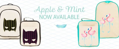 kids lunchbags lunchboxes kindy apple and mint australia