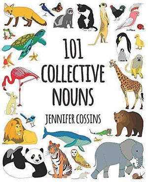 Jennifer Cossins 101 Collective Nouns Hardcover Book book - Nest 2 Me Baby Carriers Australia