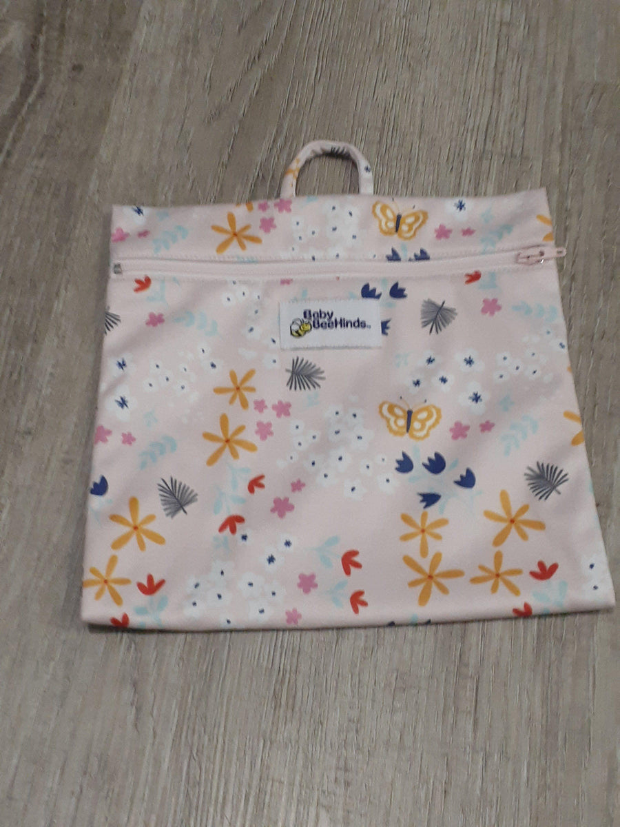Baby BeeHinds Mini Wetbag Floral Pink wet bags Baby BeeHinds