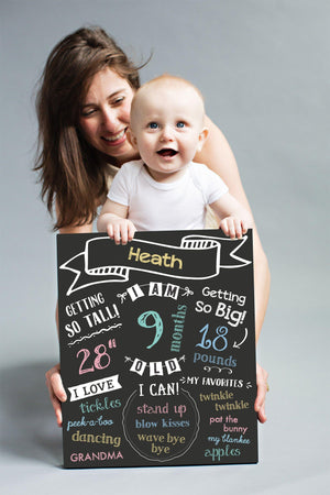 Pearhead Baby Monthly Chalkboard by Pearhead chalkboard - Nest 2 Me Baby Carriers Australia