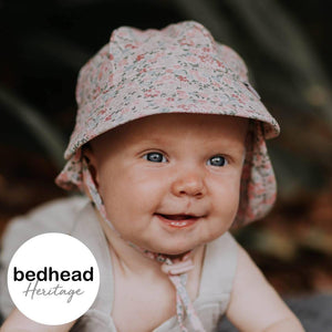 Bedhead Hats Bedhead Hat -Arabella Print Legionnaire Back Flap Hat Baby Toddler sizes hat - Nest 2 Me Baby Carriers Australia