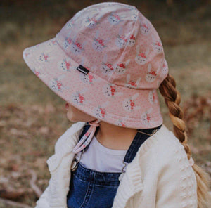 Bedhead Hats Bedhead Hat - Blossom Print Ponytail Bucket Hat hat - Nest 2 Me Baby Carriers Australia