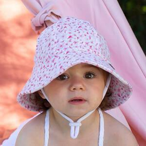 Bedhead Hats Bedhead Hat -Cherry Blossom Print Bucket Hat Newborn up to 6 yrs+ sizes hat - Nest 2 Me Baby Carriers Australia