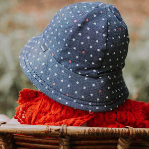 Bedhead Hats Bedhead Hat - Hearts Print Bucket Hat hat - Nest 2 Me Baby Carriers Australia