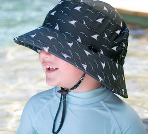 Bedhead Hats Bedhead Hat - Kids UPF50+ Beach Swim Hat Bucket Jaws hat - Nest 2 Me Baby Carriers Australia
