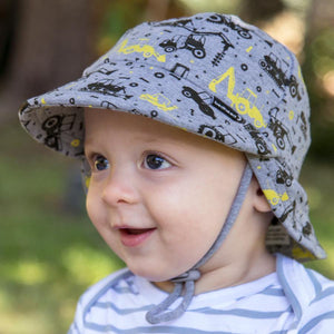 Bedhead Hats Bedhead Hat -Legionnaire Back Flap Digger Print Hat Baby Toddler sizes hat - Nest 2 Me Baby Carriers Australia