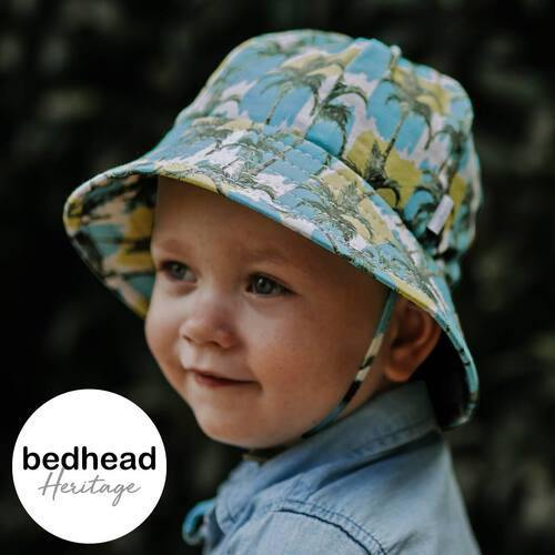 Bedhead Hats Bedhead Hat -Malibu Print Bucket Hat Newborn up to 6 yrs+ sizes hat - Nest 2 Me Baby Carriers Australia