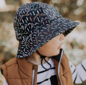 Bedhead Hats Bedhead Hat - Scout Print Kids Bucket Hat hat - Nest 2 Me Baby Carriers Australia