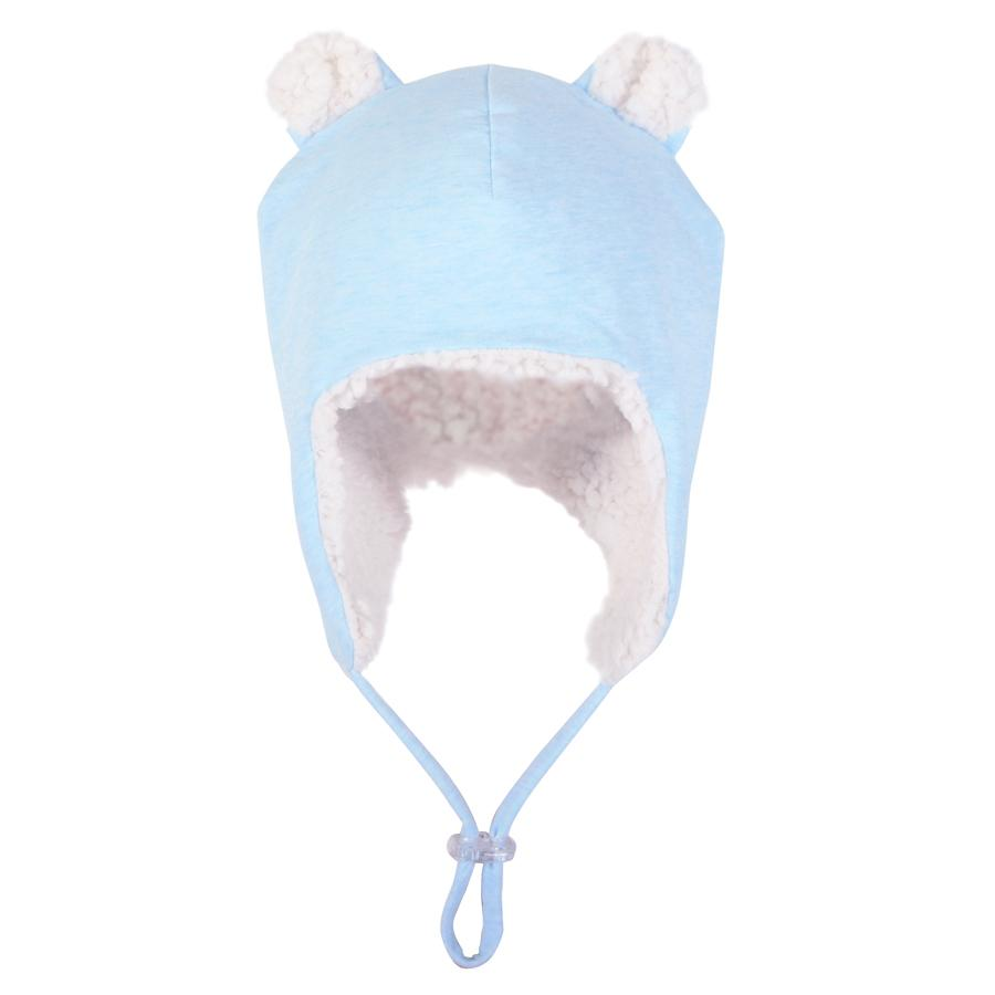 Bedhead Hats Bedhead Hats Fleecy Teddy Beanie - Baby Blue Marle - various sizes Baby Beanies - Nest 2 Me Baby Carriers Australia