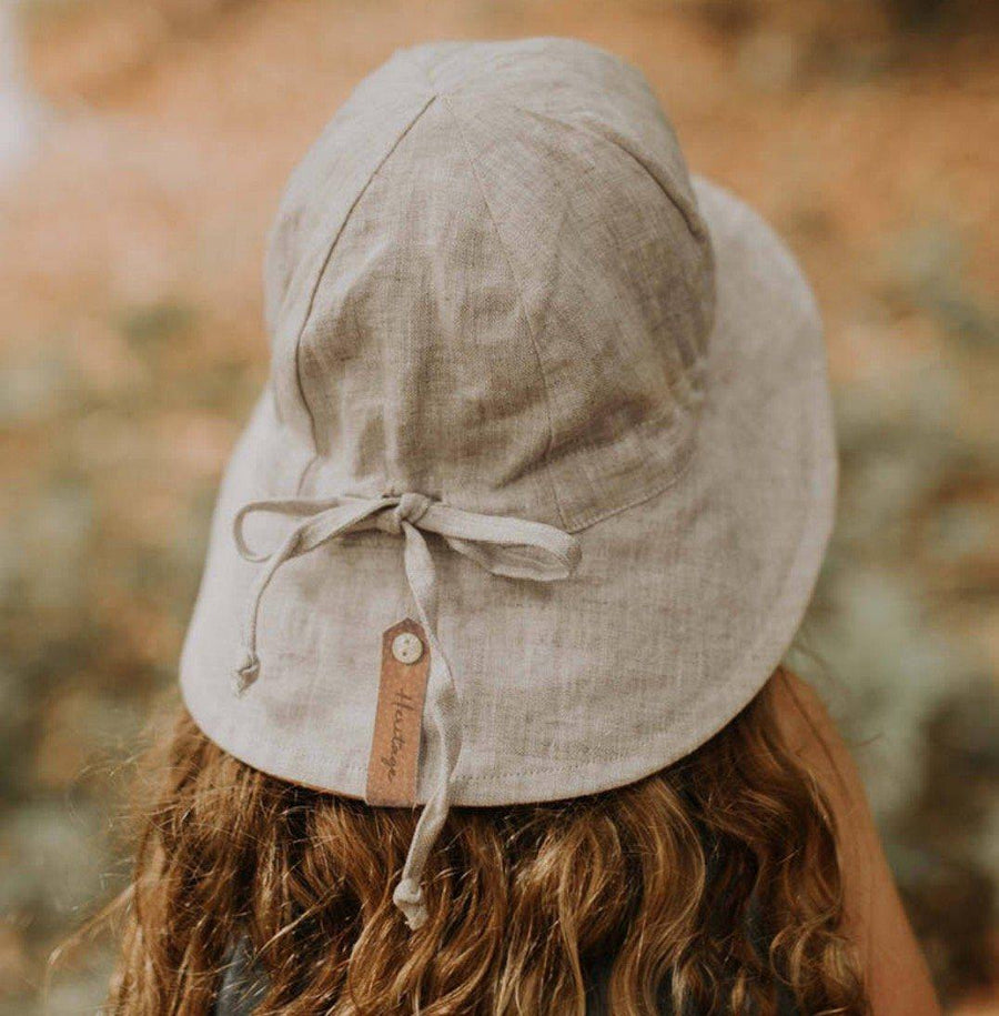 Bedhead Hats Bedhead Hats - Girls Wanderer Reversible Sun Bucket Hat - Polly-Flax hat - Nest 2 Me Baby Carriers Australia
