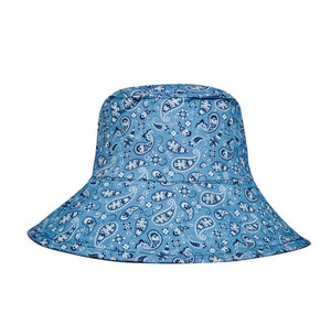 Bedhead Hats Bedhead Hats Paisley / Indigo Reversible Ladies Sun Hat - Vacationer Style hat - Nest 2 Me Baby Carriers Australia