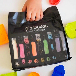 Bio Dough Bio Dough Natural Scented Rainbow in a Bag 9 Colours play dough cutters - Nest 2 Me Baby Carriers Australia