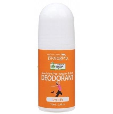 Biologika Biologika Natural Deodorant Certified Organic Aluminium Free - Live it Up Roll On 70mL deodorant - Nest 2 Me Baby Carriers Australia