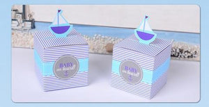 Nest 2 Me Baby Carriers Australia Blue Sails Deluxe Cupcake Holders-Bonbonierre Boxes 10 pcs baby shower cupcake holders - Nest 2 Me Baby Carriers Australia