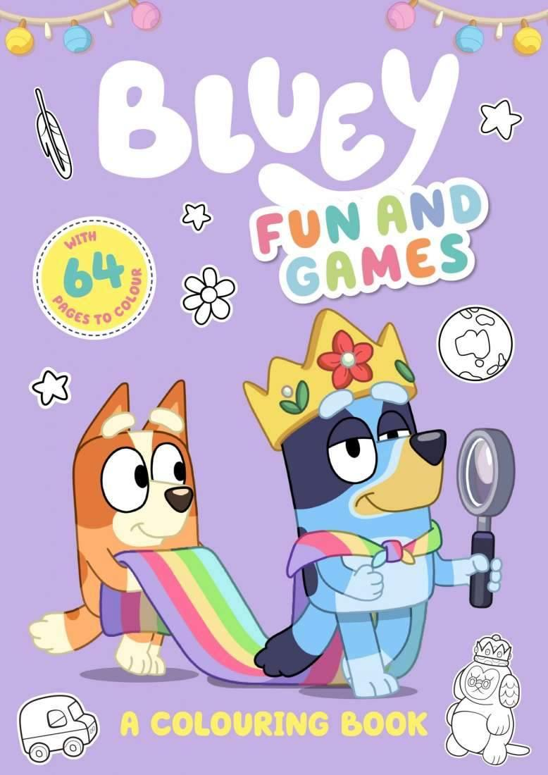 Bluey Colouring Book - Fun and Games colouring book bluey