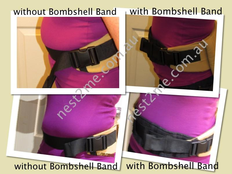 Bombshell Band by Babies in Space Bombshell Band - Flattering Waistband Padded Addition for Carriers - 3 sizes available Baby Carrier Accessories - Nest 2 Me Baby Carriers Australia