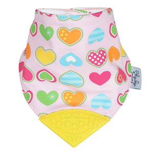 Kiss Kiss Hug Hug Chewable Baby Bib - Love Hearts baby bib - Nest 2 Me Baby Carriers Australia