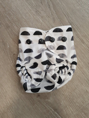 Bare + Boho Dark Lunar Newborn Bare and Boho Cloth Nappy Single Bamboo Nappies - Nest 2 Me Baby Carriers Australia