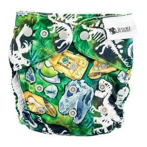 Designer Bums Dino Safari Designer Bums Nappy Reusable nappy - Nest 2 Me Baby Carriers Australia