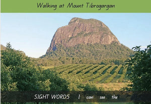 Nature Hearts Education Early Reader Book - Walking at Mount Tibrogargan - Level 1 Series 1 Sight Words books - Nest 2 Me Baby Carriers Australia