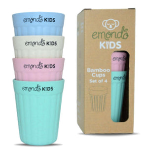 Emondo Kids Eco cups set of 4 bamboo reusable cups - Emondo cups - Nest 2 Me Baby Carriers Australia