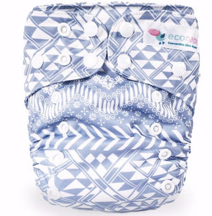 econaps EcoNaps Convertible Cloth Nappy - Wanderlust Nappies - Nest 2 Me Baby Carriers Australia
