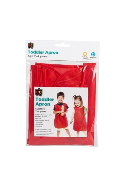 Educational Colours Toddler Smock 2-4 years - Red smock Educational Colours