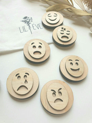 Emotion Play Dough Stamps - Lil Eve Set of 6 emotion play dough stamps Lil Eve