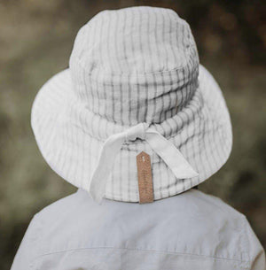 Bedhead Hats Finley Blanc Kids Explorer Bucket Hat Reversible - Bedhead Hats hat - Nest 2 Me Baby Carriers Australia