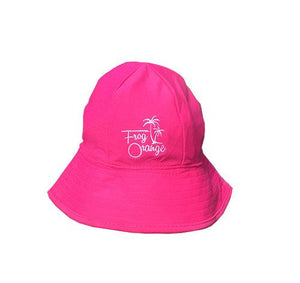 Flamingo Pink Quick Dry USP 50+ Baby Bucket Hat by Frog Orange Children's Caps & Hats Frog Orange