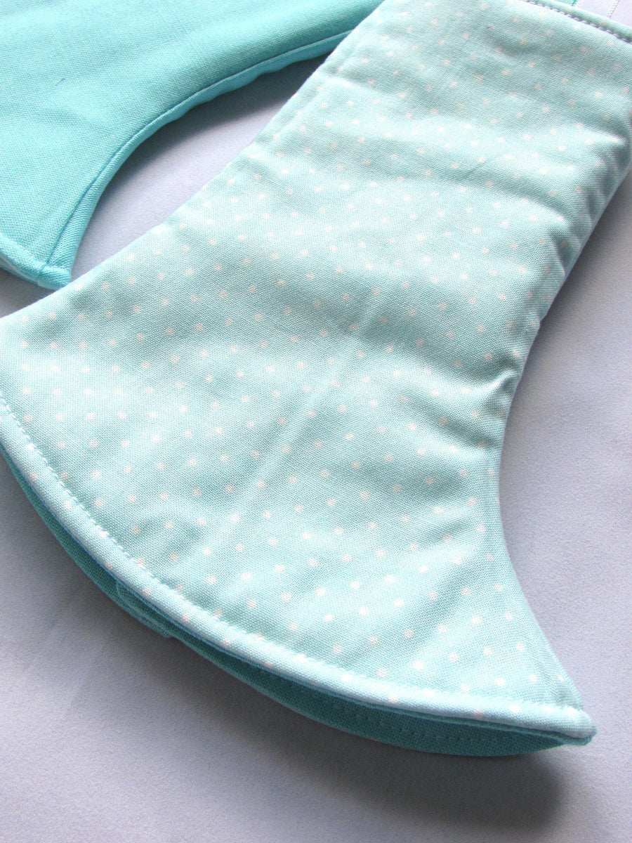 Dribble Monster Australia Fletcher Gossamer Teal Suck Pads - Reversible 2-way curved w/tags Suck Pads - Nest 2 Me Baby Carriers Australia