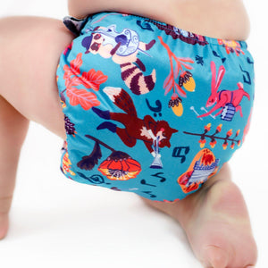Designer Bums Folk Festival Designer Bums Art Pop A12 Modern Cloth Nappy Nappies - Nest 2 Me Baby Carriers Australia