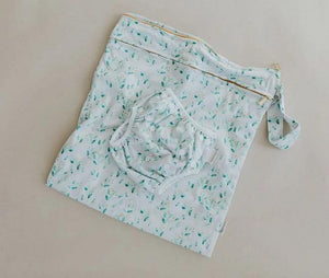 Bare + Boho Garden - Bare and Boho Reusable Swim Nappy and Wetbag Set OSFM Nappies - Nest 2 Me Baby Carriers Australia