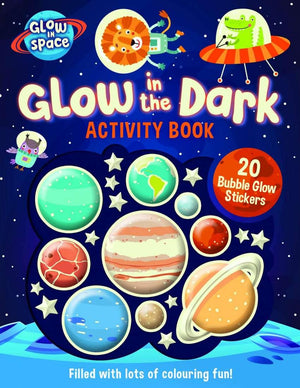 Glow In The Dark Activity Book with Bubble Glow Stickers kids activity book Lake Press