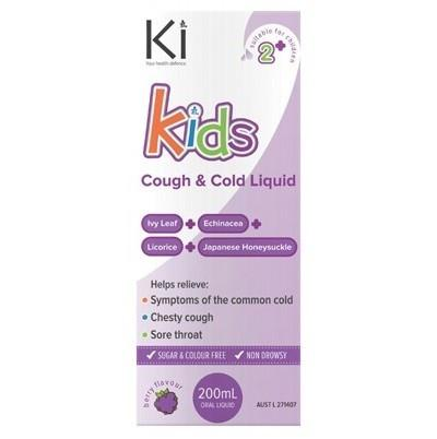 Martin and Pleasance Ki Kids Cough and Cold Liquid 200mL - 2 to 12 years cold and flu - Nest 2 Me Baby Carriers Australia