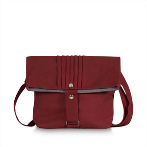Last One - Classic Deep Red Nappy Purse Bag Pram Nappy Bags Chele and Maye