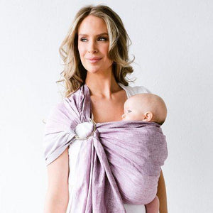 Lillebaby Baby Carriers Australia Lillebaby Ring Sling - Eternal Love - Pomegranate Stripes with Gold ring sling - Nest 2 Me Baby Carriers Australia