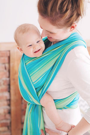 Little Frog Woven Wraps Little Frog Adventurine Woven Wrap Size 5 woven wrap - Nest 2 Me Baby Carriers Australia