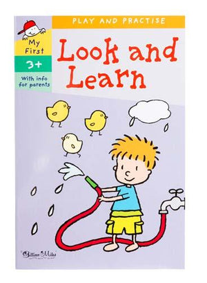 Gillian Miles Learning Look and Learn Activity Book Age 3+ kids activity book - Nest 2 Me Baby Carriers Australia